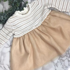 Baby Girl Dress | Gold